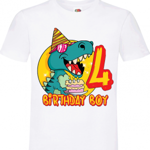Dinosaur Happy 4th Birthday 7
