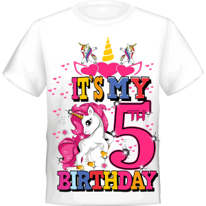 Unicorn It's My 5th BIRTHDAY 5