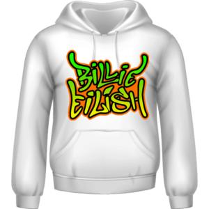BILLIE EILISH Graffiti Print Hoodie 8