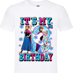 FROZEN Its My 3rd BIRTHDAY Kids Tshirt 11