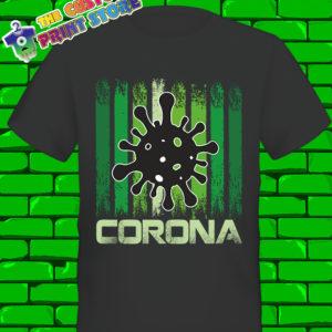 Corona Virus 2020 Covid 19 Black Tshirt 19