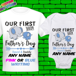 Our First Father's Day T Shirt Family Fathers Day Matching T-Shirt 21